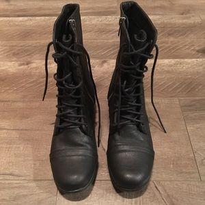 Steve Madden Madden Girl Gamer Black Combat Boots